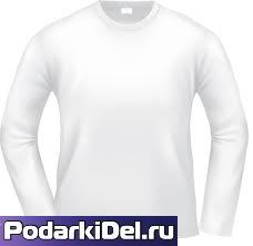 Футболка 2-х сл. с длиным рукавом муж. 46р-52р. (М-XXL) БЕЛАЯ