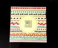 "Коробка подарочная для ТАРЕЛКИ без окна ""Smile Everyday"""