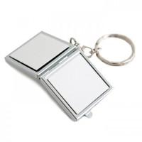 Зеркальце-брелок для ключей, квадрат 3*3см (металл)
