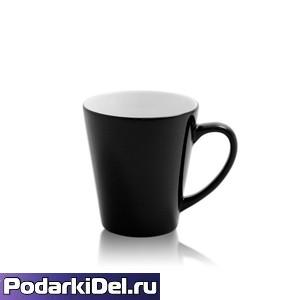 """Кружка  ХАМЕЛЕОН """"ЛАТТЕ"""" черная (низкая)"""