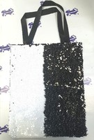 Сумка с пойетками черно/белая 40х32 см