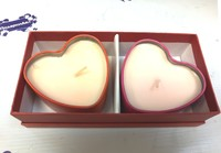Подарочный набор из двух свечей в футляре для сублимации