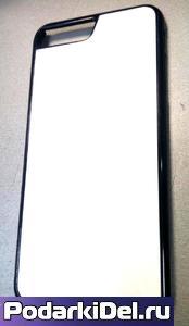 Чехол пластиковый IPhone 7/8 Plus черный (вставка под сублимацию)