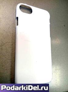 "Чехол пластиковый IPhone 7 ""белый"" глянцевый (для вакуумной машины)"