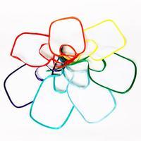 Слюнявчики детские (цветная окантовка)