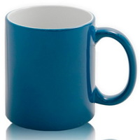 Кружка керамическая ХАМЕЛЕОН (синяя) Премиум