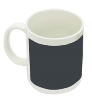 Кружка белая с черным прямоугольником