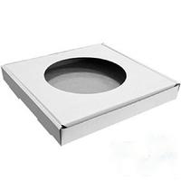 Коробка подарочная для ТАРЕЛКИ d-20см с окном  (белая)