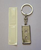 Брелок ПРЯМОУГОЛЬНИК (металл, 14х35mm, кольцо) + 2 ЛИНЗЫ