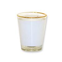 Рюмка стеклянная низкая (золотая каемка) h-6.2см, 90мл