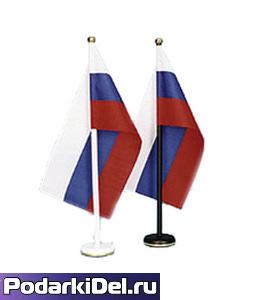Флагшток настольный с 1штоком (белый)
