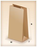 Пакет из крафт-бумаги (12х24х8см.)