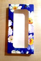 "Коробка подарочная для ЧЕХЛА с окном ""Цветы"" (143х75х15мм)"