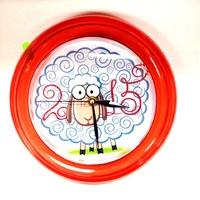 Часы пластиковые круг d-225мм (вставка 162мм) 6цветов