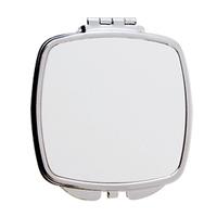 Зеркало макияжное  КВАДРАТНОЕ серебро (в виде призмы)