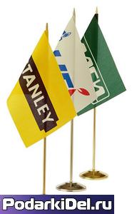 Флаг под сублимацию 12х18см (таффета) без флагштока
