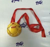 Медаль акриловая d-78мм + лента ЗОЛОТО