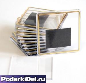 Фотомагнит КВАДРАТ (с позолотой) 65Х65мм