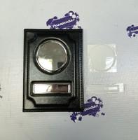 Обложка для Автодокументов + линза кожа глянец ЧЕРНАЯ (черная нить)
