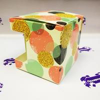 Коробка подарочная для КРУЖКИ с окном Розовые шары