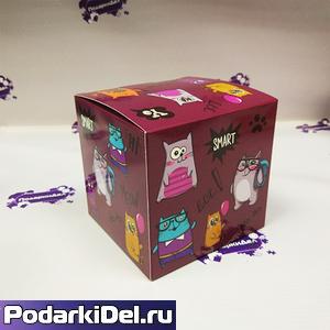 """Коробка подарочная для КРУЖКИ """"Котики"""""""