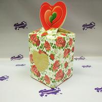 Коробка подарочная для КРУЖКИ с окном Мелкие розы
