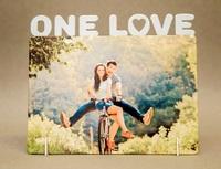 "Фоторамка металл ""One Love"" 172x142х2мм (для сублимации)"