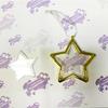Шарик елочный ЗВЕЗДА прозрачная с золотой окантовкой под вставку D90мм (D вствки 59мм)