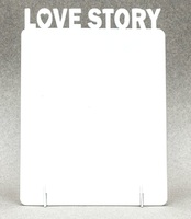 "Фоторамка металл ""Love Story"" 168x122х2мм (для сублимации)"