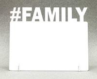 """Фоторамка металл """"#Family"""" 172x142х2мм (для сублимации)"""