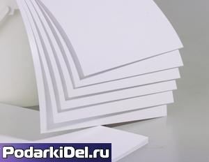 Пластик pvc (БЕЛЫЙ) для струйной печати (200х250mm) толщина 0,3mm (25листов)