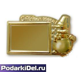 "Фотомагнит Снеговик ""С НОВЫМ ГОДОМ"" 93мм х 57мм"