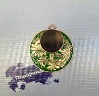 "Медаль MDRus522 ""бронза"" (без вкладыша 25мм) без ленты"