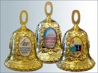 Колокольчик металл d-47мм (золото+3линзы)