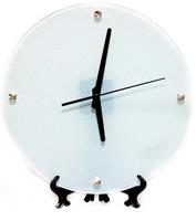 Часы стеклянные d-30см