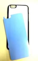 """Чехол пластиковый IPhone 6 """"черный"""" (+вставка для сублимации)"""