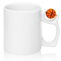 Кружка белая с МЯЧОМ (баскетбол)