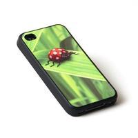"""Чехол пластиковый """"черный"""" для IPhone 5/5S (со вставкой под сублимацию)"""