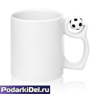 Кружка белая с МЯЧОМ (футбол)