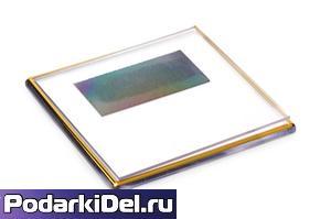Фотомагнит КВАДРАТ с позолотой (100*100мм)