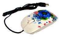 Мышь компьютерная USB (белая)