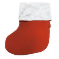 Носок для ПОДАРКОВ (красный с белым отворотом)