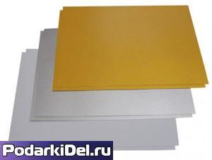 Пластик pvc (ЗОЛОТО) для струйной печати А4 (210х297mm) толщина 0,3mm (1лист)