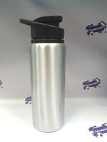 Фляга аллюминиевая с крышкой для питья. Серебро, 750мл