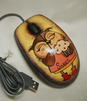 Мышь компьютерная USB (красная)