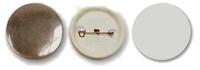 Заготовка d-58мм Значок круглый (пластик/булавка)